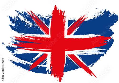 Union Jack Flag Sketched