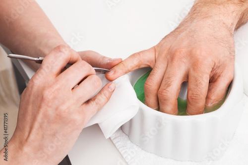 Manicure man