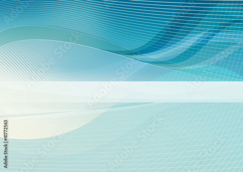 Turquoise Blue variation, background Mertor 3, white elements