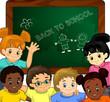 Bambini a scuola-Children at school