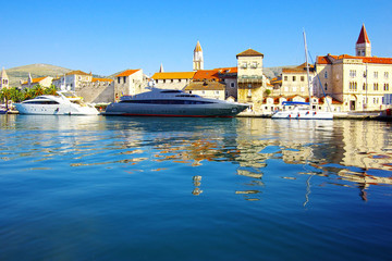 Picturesque sea landscape with Trogir city, Croatia