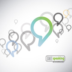 Vector speaking background