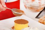 chef cooking tiramisu dessert