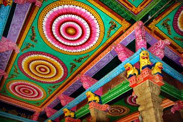 Minakshi-Tempel innen, Madurai, Indien