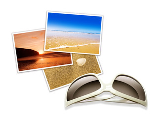 isolated sunglasses and photos