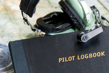 logbook and headset