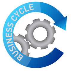 business gear cycle illustration design over white