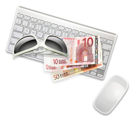 sunglasses euro keyboard