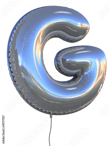 letter G balloon 3d illustration