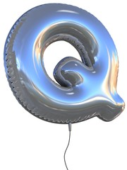 letter Q balloon 3d illustration