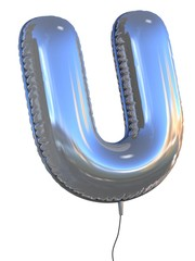 letter U balloon 3d illustration