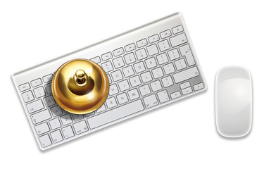 service bell on keyboard
