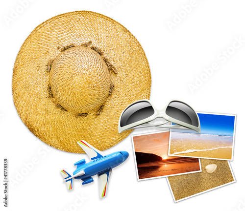 summer travel objects