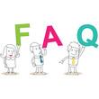 Geschäftsleute, Buchstaben, FAQ