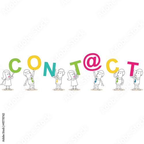 Geschäftsleute, Buchstaben, CONT@CT