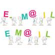 Geschäftsleute, Buchstaben, E-M@IL / EM@IL