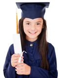 Girl in her graduation
