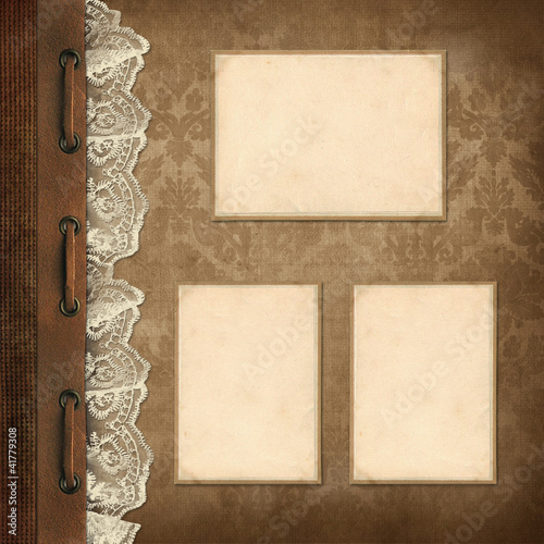 Vintage background, page family album