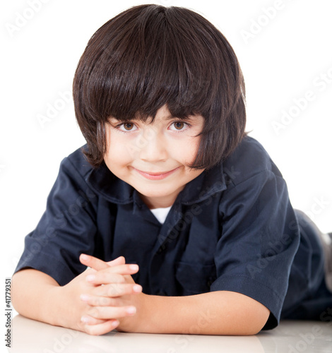 Boy lying on the floor