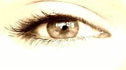 Womens eye sepia tinted