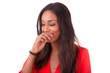 Beautiful young black woman laughing