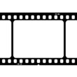 Illustration of blank 35mm film strip