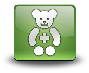 "Green 3D Effect Icon ""Pediatrics"""