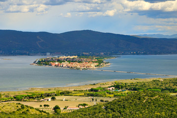 panorame of Orbetello