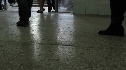 People go on the subway