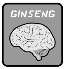 Ginseng brain emblem