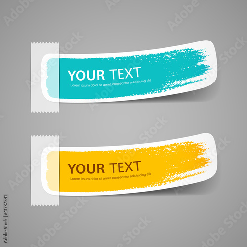 Label paper brush stroke, vector