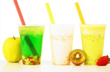 Banana Slash Apple Bubble Tea and Kiwi Slash