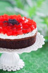 Poppy seeds and chocolate cake