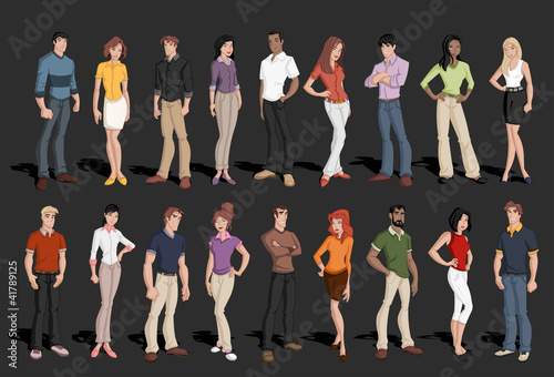 Group of cartoon business people - 41789125