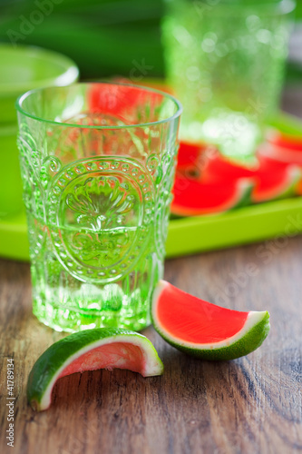Watermelon lime jello shots