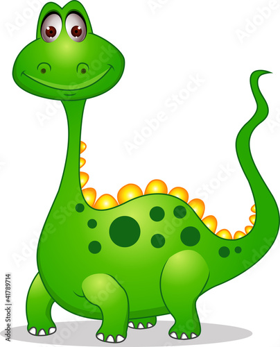 Fotobehang Dinosaurs Cute green dinosaur cartoon