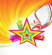 abstract colorful star background