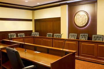 Idaho state capitol auditorium room.