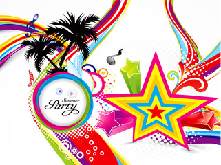 abstract colorful summer background