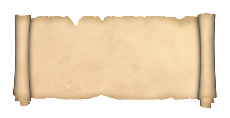 Scroll of parchment.