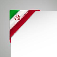 iran metallic looking vector corner