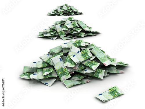 huge pile of european money