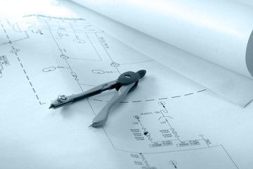 The drawing and compasses