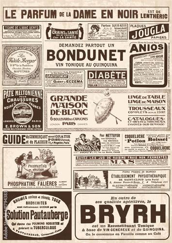 Spoed canvasdoek 2cm dik Kranten page de pub