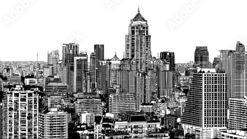 Panoramic view of modern Bangkok near Asok - 41794535