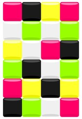 Color mosaic background. Vector illustration.