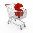 sale shopping cart with dollar sign