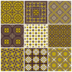 Seamless backgrounds Collection - Vintage Tile - for scrapbook