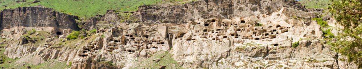 panorama of cave city monastery Vardzia,Georgia,Transcaucasus
