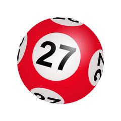 Tirage loto, boule numéro 27